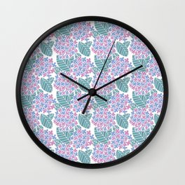 Japanese Floral Pattern 03 Wall Clock