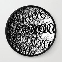 Black Spiral Swirls Wall Clock