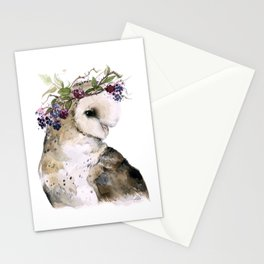Flower Crowned Barn Owl Stationery Cards