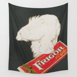 Polar Bear and Chocolate Candy Vintage Advertisement Wall Tapestry