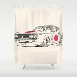 Crazy Car Art 0162 Shower Curtain