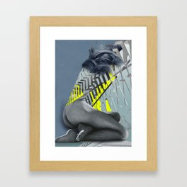 even condos can crumble Framed Art Print