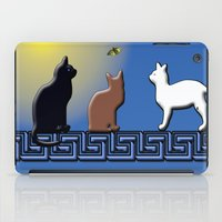 greece iPad Cases featuring Greece Cats by LoRo  Art & Pictures