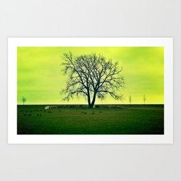 Tree in Green Art Print