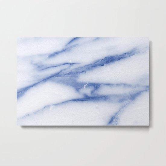 Blue Skies Marble Metal Print