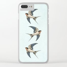 Barn Swallow - option Clear iPhone Case