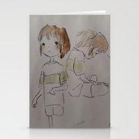 ghibli Stationery Cards featuring GHIBLI TRIBUTE by Gemma Ackerman