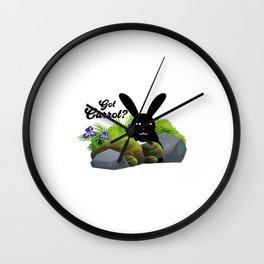 Got Carrot Wall Clock