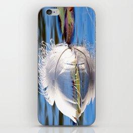 Swan Feather on Lake iPhone Skin