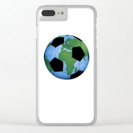 The World Of Soccer Clear iPhone Case