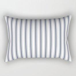 Dark Sargasso Blue Mattress Ticking Wide Striped Pattern - Fall Fashion 2018 Rectangular Pillow