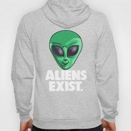 Aliens Exist UFO Extraterrestrial Space Hoody
