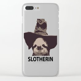 Slotherin (Slytherin + Sloth) Clear iPhone Case