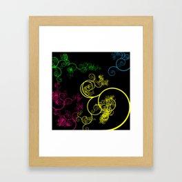Neon Loopy Framed Art Print