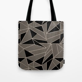 Geometric Abstract Origami Inspired Pattern Tote Bag
