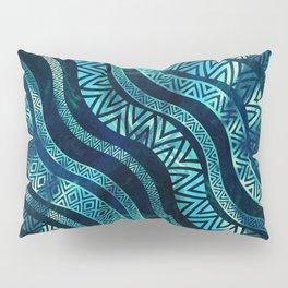 Wavy Tribal  Ethnic Boho Pattern Pillow Sham