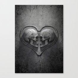 Gothic Skull Heart Canvas Print
