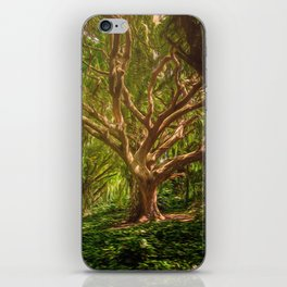 background, forest, trees, digital art, mystical, fantasy, withered tree, shining, lighting, magic, iPhone Skin