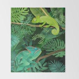 Chameleons Throw Blanket