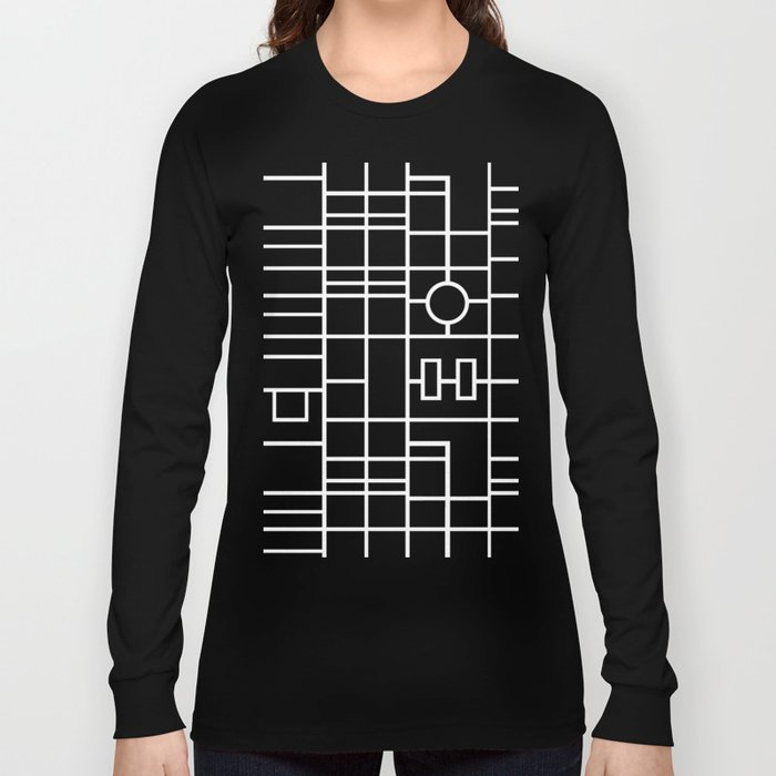 Map With Roundabout Long Sleeve T-shirt