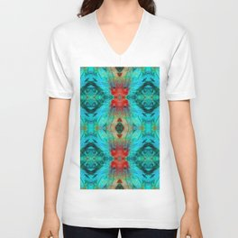 Colorful Patterns - Life Circles - By Sharon Cummings Unisex V-Neck