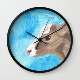 A Heifer Calf Named Keely Wall Clock