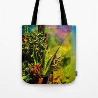 cacti Tote Bags featuring Cacti   by Ashley Hirst Photography