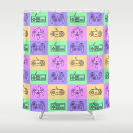 Nintendo Gaming Controllers - Retro Style! Shower Curtain