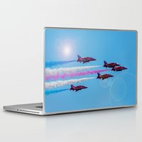 airplanes Laptop & iPad Skins featuring ARROWS IN FLIGHT by Catspaws