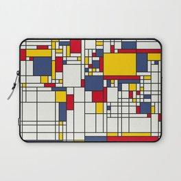 World Map Abstract Mondrian Style Laptop Sleeve