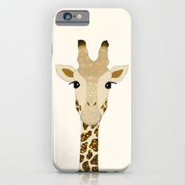 Golden Glitter Giraffe iPhone Case