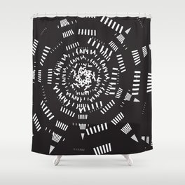 Galaxy geometric Shower Curtain