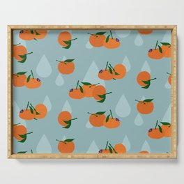 Clementines and drops Serving Tray