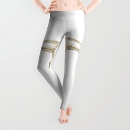 Bull Skull Gold Leggings
