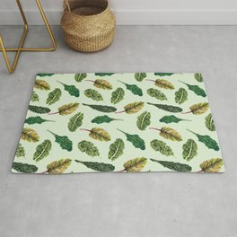 Go Green - Leafy Green Pattern Rug