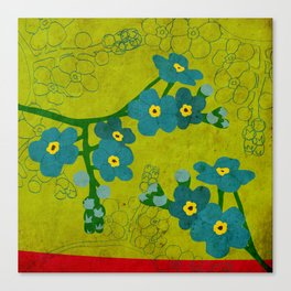 Flowers: Forget me not Canvas Print