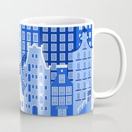 Amsterdam in Delft Blue Coffee Mug