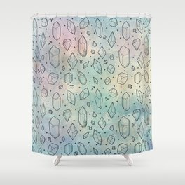 Crystals & Constellations Shower Curtain