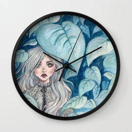 Silver Forest Wall Clock