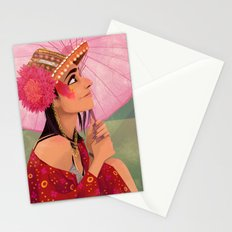 festival fashion Stationery Cards