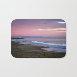 Santa cruz lighthouse Bath Mat