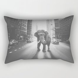 Elephant in the city Rectangular Pillow