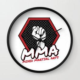 MMA Mixed Martial Arts Logo For Martial Arts Wall Clock