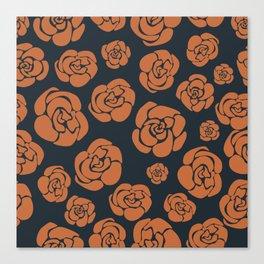 Janie's Roses - Copper Canvas Print