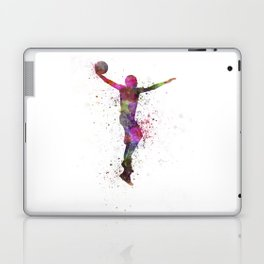 young man basketball player dunking Laptop & iPad Skin