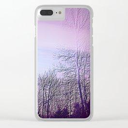 Lavender Dusk Landscape | Nadia Bonello Clear iPhone Case