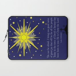 starry sky & crosses (luke 2:10-11)  Laptop Sleeve