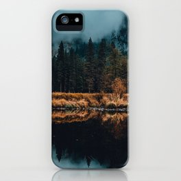Moody Yosemite Reflections iPhone Case