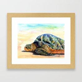 Turtle at Poipu Beach 8 Framed Art Print