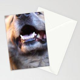 Agressive dog Stationery Cards